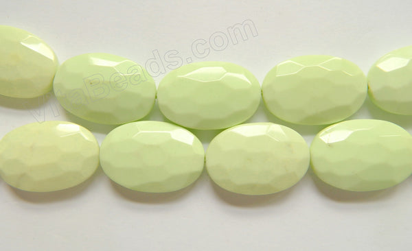 Lemon Chrysophase AAA   -  Faceted Ovals  16""