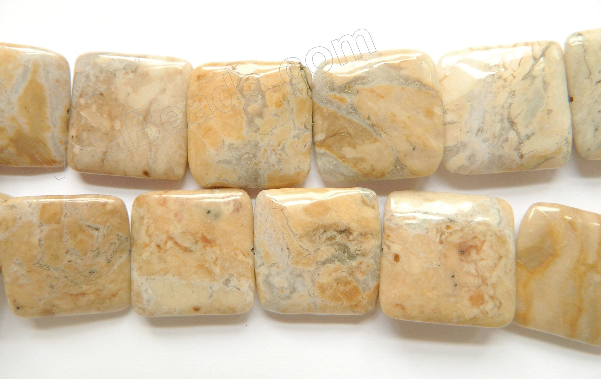 Africa Opal  -  30mm Big Puff Squares  16""