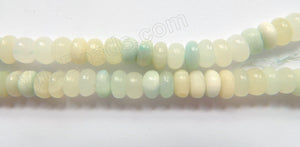 Hemimorphite Light  -  8mm Smooth Rondel  16""