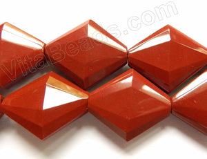 Red Jasper A  -  Faceted Diamond 16""