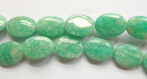 Russian Amazonite Light  -  15x20mm Puff Ovals 16""