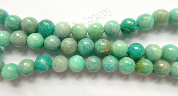 Mixed Russia Amazonite  -  Smooth Round Beads  16""