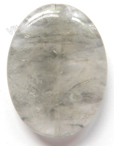 Pendant - Smooth Oval Grey Quartz Light