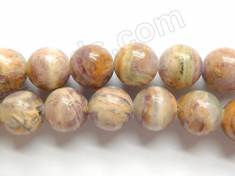 Flower Sugilite  -  Smooth Round Beads  16""