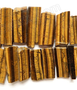 Tiger Eye AA  -  Graduated Top-drilled Long Rectangle Slabs  16""