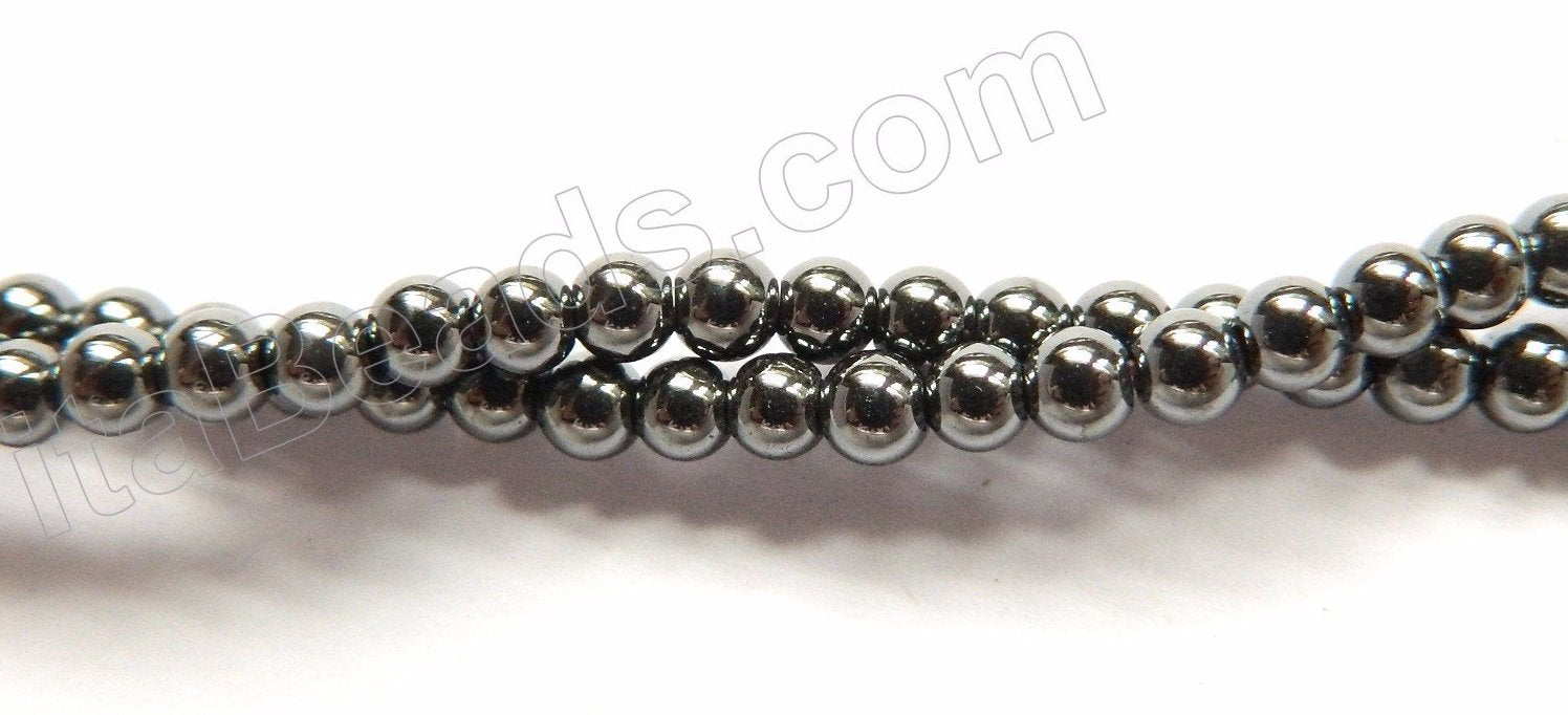 Hematite  -  Small Smooth Round  16""