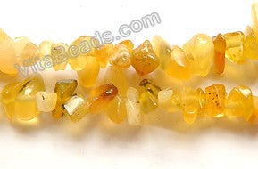 "Yellow Opal India Made -  Chips 36""    6 - 8 mm"