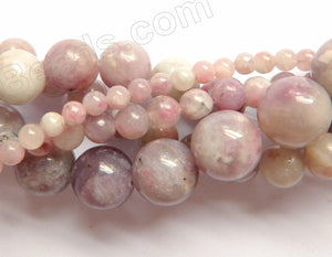 Chinese Tourmaline  -  Smooth Round Beads 16""
