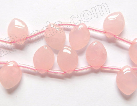 Rose Quartz  -  Puff Briolette Marquise Top-Drilled  16""