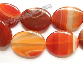 Carnelian with Stripes  -  Big Puff Ovals 15""