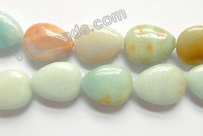 Golden Amazonite Light  -  15x20mm Puff Drops  16""