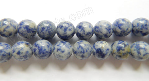 Blue Spot Stone  -  Smooth Round  16""