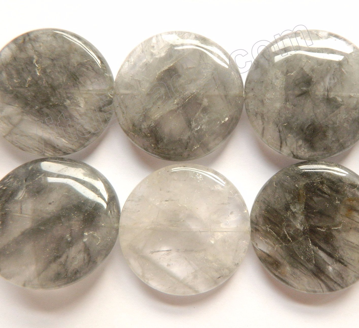 Grey Quartz  -  Big Puff Coins  16""