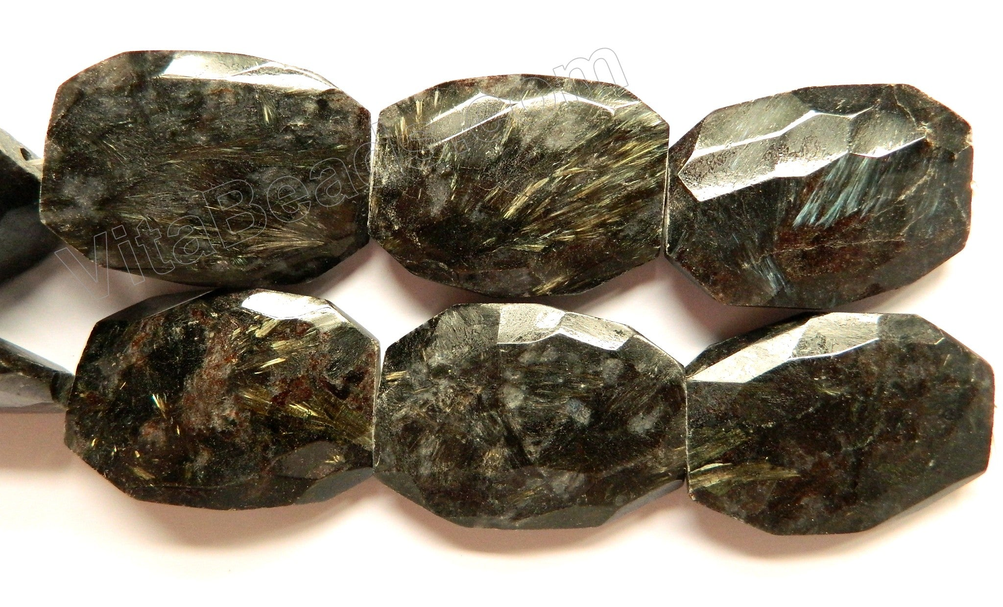 Hyperstene AB  -  Jumbo Faceted Nuggets  15""