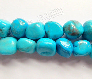 Howlite Blue Turquoise A  -  10-12mm Small Tumble  16""