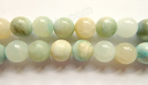Hemimorphite Natural  -  Big Smooth Round Beads  16""