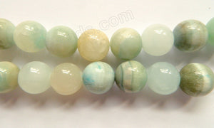Hemimorphite  -  Big Smooth Round Beads  16""