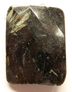 Faceted Twist Rectangle Pendant - Astrophyllite