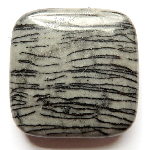 Pendant - Smooth Square Matrix Jasper