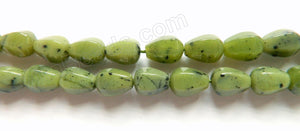 BC Jade A Light  -  7x10mm 6-Side Faceted Drops 16""
