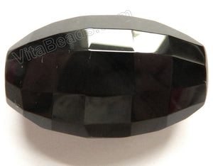 Square Cut Oval Pendant Black Onyx