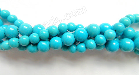 Deep Blue Stablelized Turquoise  -  Smooth Round  16""