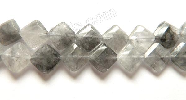 Grey Quartz  -  Faceted Diamond  16""