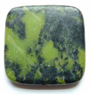 Pendant - Big Smooth Square New Chrysoprase - Dark