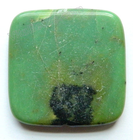 Pendant - Big Smooth Square New Chrysoprase - Green