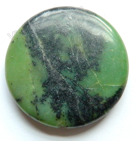 Pendant - Smooth Round New Chrysoprase Dark