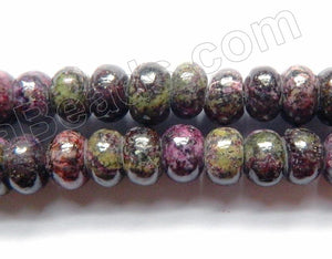 "Africa Chaorite Jasper  -  Smooth Rondells  16""    8 mm"