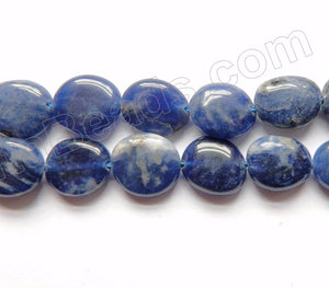 Sodalite A  -  Small Puff Oval Pebbles  16""