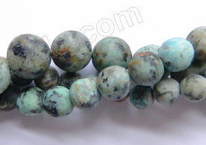 Africa Turquoise Frosted - Smooth Round 16""