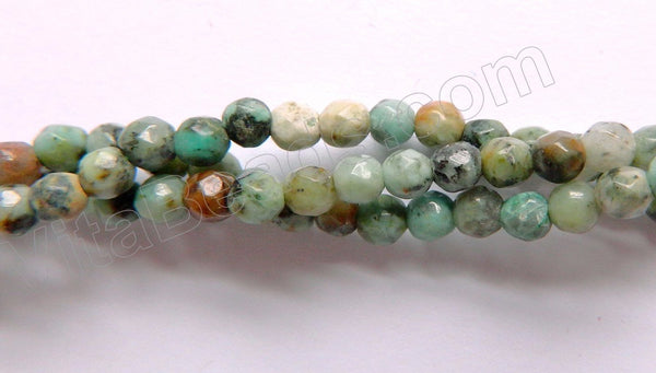 Africa Turquoise A   -  Small Faceted Round  15""