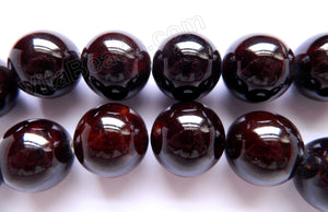 Porcelain - Plated Maroon -   20mm Big Smooth Round Beads  16""