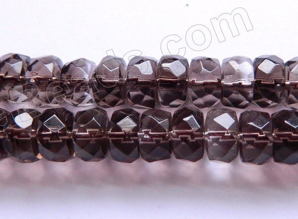 "Smoky Topaz Natural AAA  -  Faceted Heishi, Faceted Rondel  15""    9x5mm"