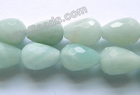Amazonite A  -  Faceted Drop 16""