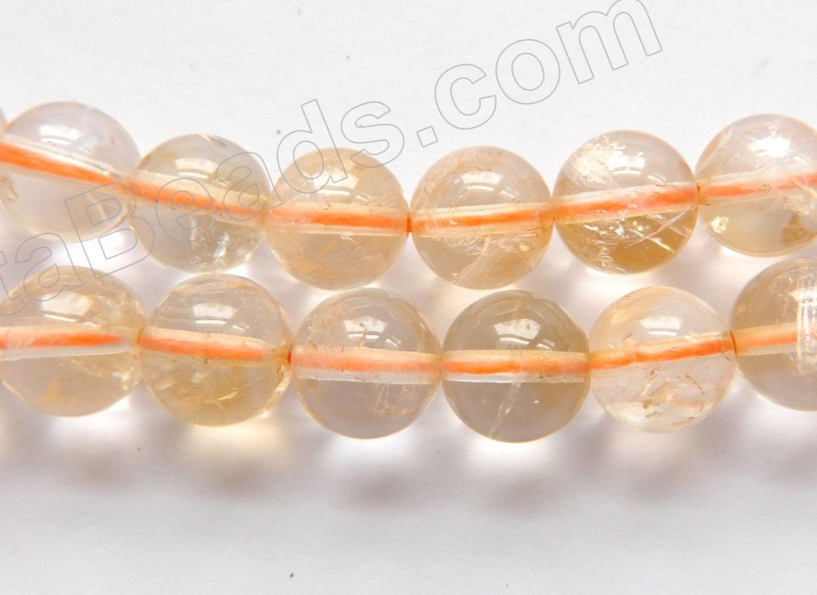Light Citrine Natural  -  Smooth Round  15.5""