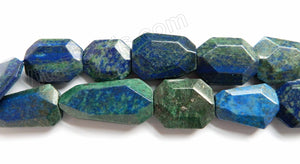 Azurite Malachite  -  Irregular Faceted Flat  16""