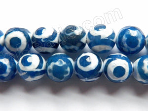 DZi Agate Blue Eye  -  Faceted Round  15""