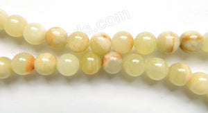 Light Green Hemiporphite Jade  -  Smooth Round  16""