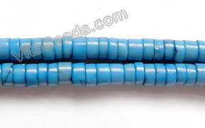 "Lapis Turquoise  -  Small Heishi  16""     4x3mm"