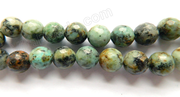 Africa Turquoise  -  Faceted Round  16""
