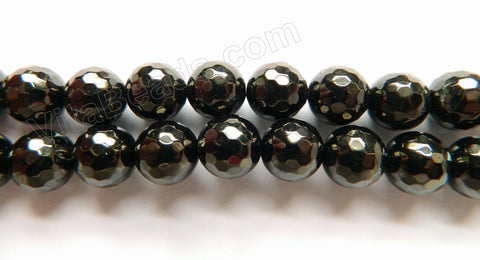 Black Jet Stone Natural   -  Faceted Round  16""