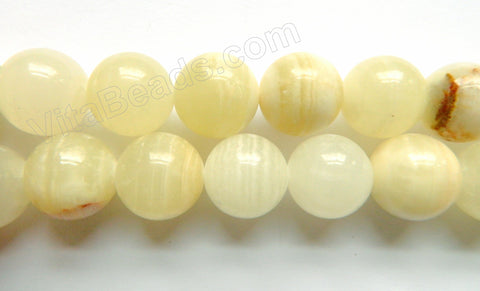 Light Green Hemimorphite Jade  -  18mm Big Smooth Round Beads  16""