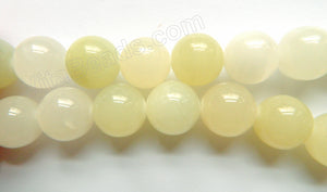 Light Green Hemimorphite Jade  -  Big Smooth Round Beads  16""
