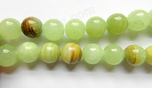 Australia Bright Hemimorphite Jade  -  16mm Big Smooth Round Beads  16""