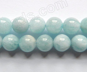 Aquamarine HK (Natural) AA  -  Smooth Round 16""