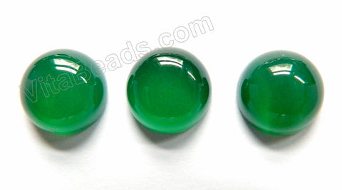 Green Onyx  -  Smooth Round Cabochon