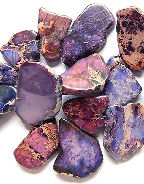 Purple Impression Jasper - Small Graduated Top-drilled Slabs  16""